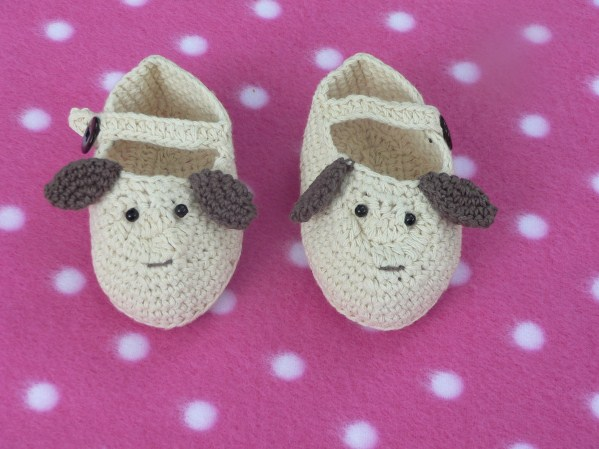 Crocheted Puppy Dog Shoes