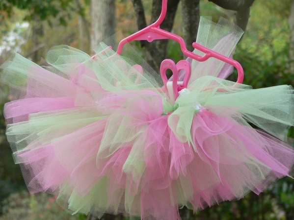 Pink and Green Newborn Tutu