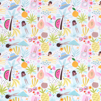 Beach Time Fabric for Masks