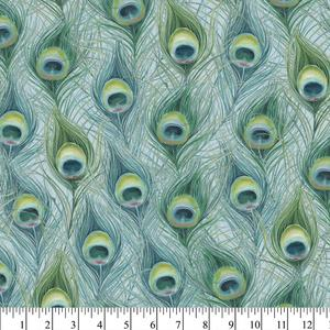 Peacock Fabric for Masks