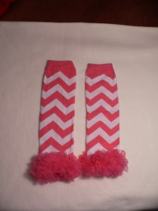 Hot Pink Chevron Legwarmers