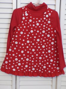 Red and White Polka Dot Jumper