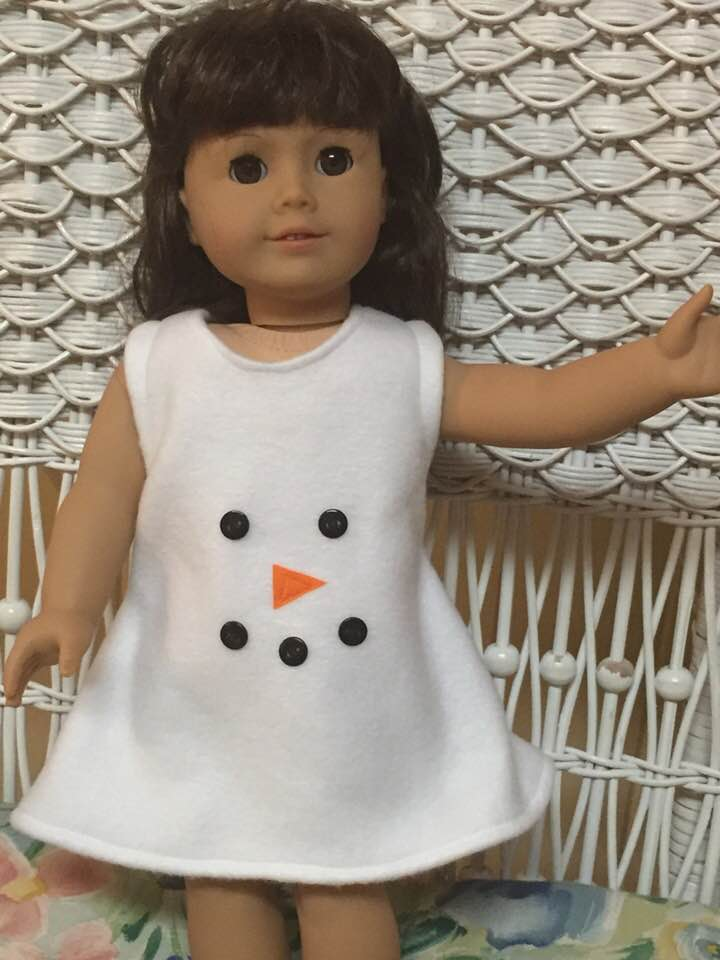 Snowman Jumper for Dolls