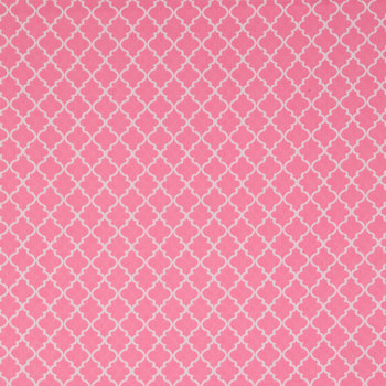 Pink Quatrefoil Fabric for Mask